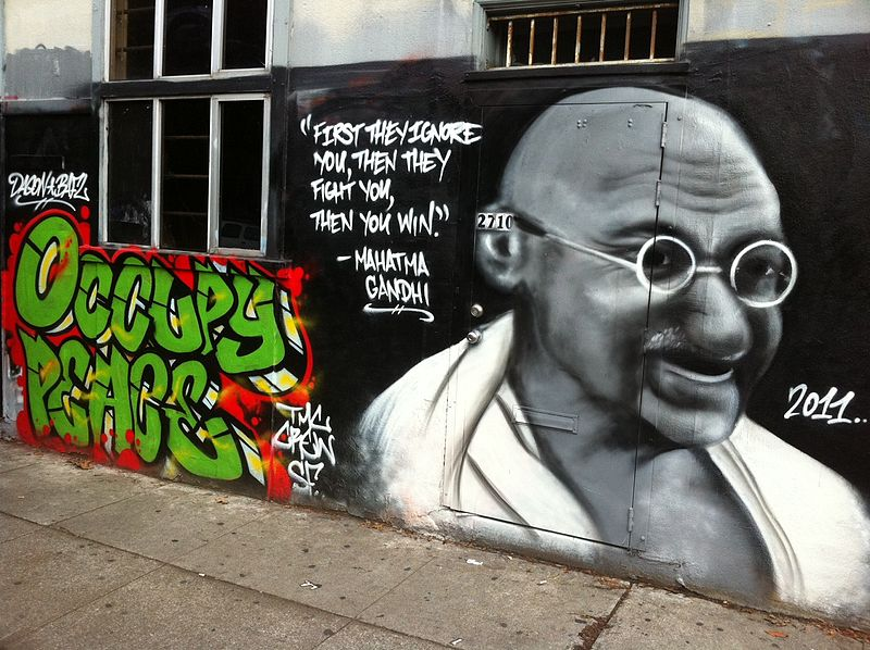 gandhi street art then you win
