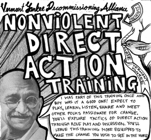 A critical view on gandhis nonviolent direct action